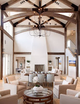 Large Great Room Ceiling with Beams