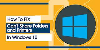4 Cara Mengatasi Tidak Bisa Sharing Folder dan Printer Di Windows 10