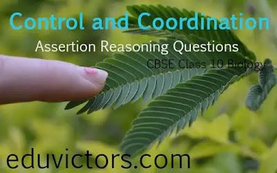 CBSE Class 10 Biology - Control and Coordination - Assertion Reasoning Questions (#class10Biology)(#eduvictors)(#cbse2021)
