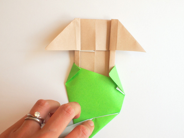 fun summer origami for kids- fold an origami mermaid