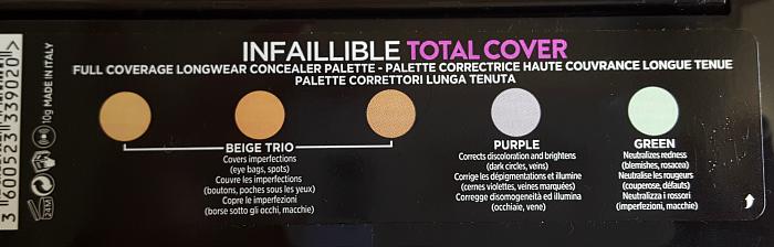 Farben: L´Oréal Paris - Infaillible Total Cover Concealer Palette - 13.95 Euro