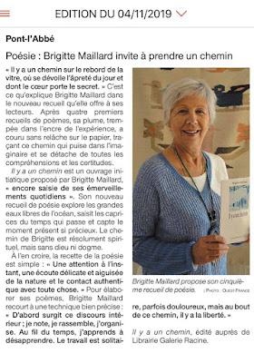 Il y a un chemin Brigitte Maillard