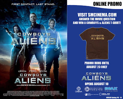 cowboys and aliens promo sm cinema