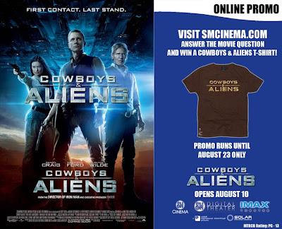 cowboys and aliens promo sm cinema