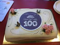 Nydelig, spesialdesignet  marsipankake i anledning  Anne-Cath. Vestly's 100-års-jubileum!