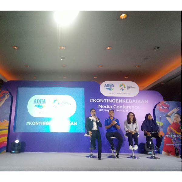 Danone AQUA Mengajak Masyarakat Indonesia Menjadi #KontingenKebaikan di AJang Asian Games 2018
