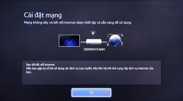 Tivi Samsung không vào youtube facebook được