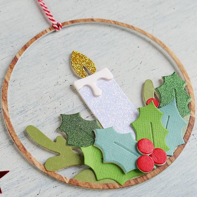 Decorazione natalizia fai da te – Ornamento candela per Natale