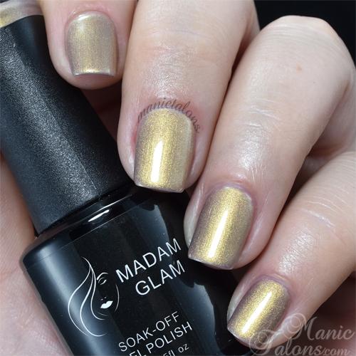 Madam Glam Gel Polish Metallic Nude