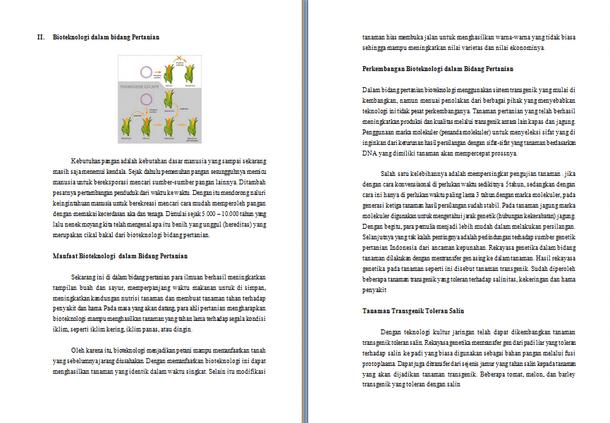Contoh Makalah Bioteknologi Tentang Aplikasi Bioteknologi dalam Bidang Pertanian