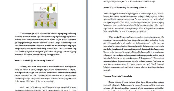 Contoh Makalah Bioteknologi Tentang Aplikasi Bioteknologi Dalam Bidang Pertanian Contoh Makalah Edukasi Baru