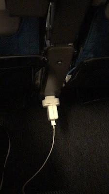 temada no avião