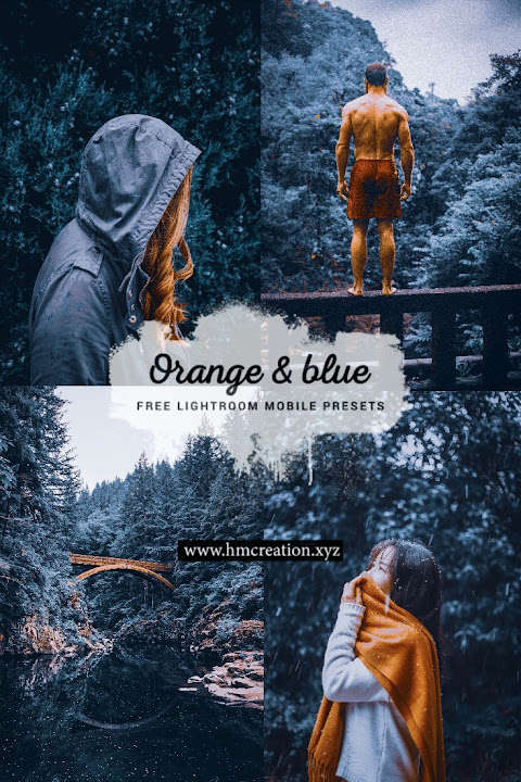 2 Orange and blue lightroom mobile presets free download