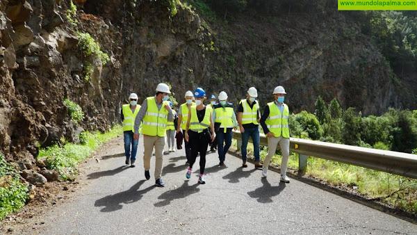 El Cabildo trabaja con celeridad para garantizar la seguridad en la carretera de Gallegos