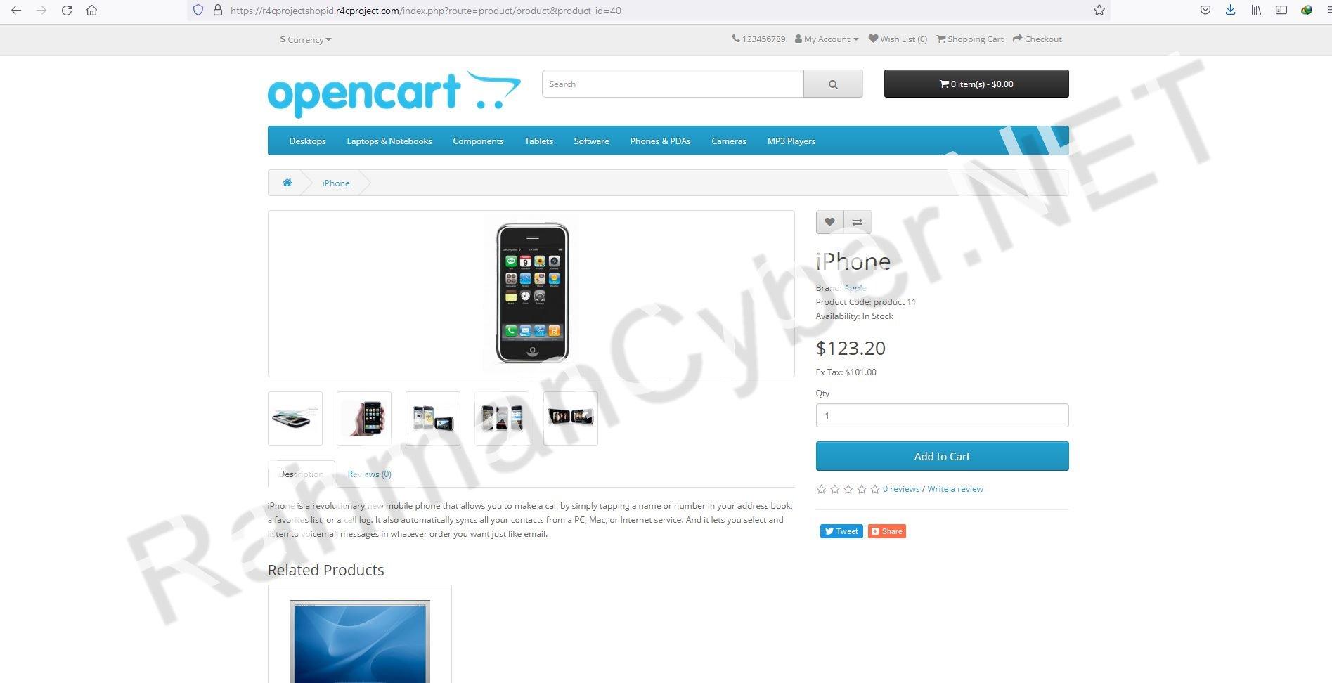 Halaman Produk OpenCart