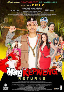 Mang Kepweng Returns is a 2017 Filipino comedy film starring Vhong Navarro.