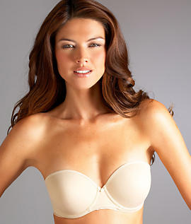 064263aa0f Smooth microfiber under-wire and demi cups provide comfortable support.  Stay-put silicone along wings. Adjustable straps included which Converts to  ...