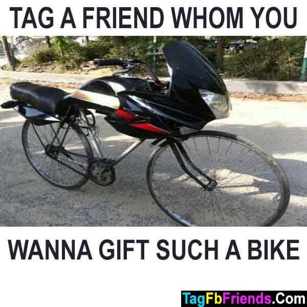 Tag a friend whom u wanna gift this bike