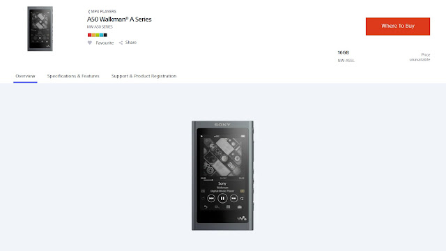Sony NW-A55L Walkman