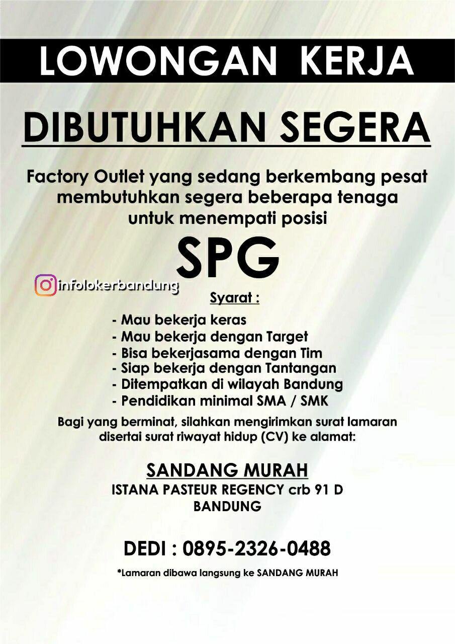 Lowongan Kerja SPG Sandang Murah Bandung Desember 2017