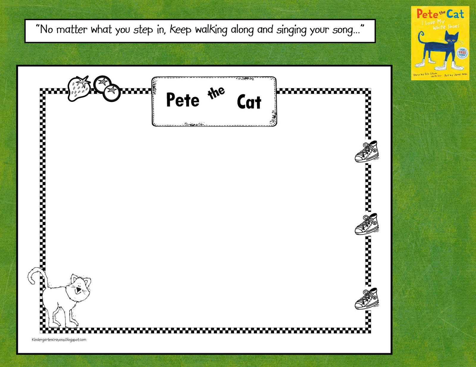 Kindergarten Crayons Pete The Cat Ep Walking Along