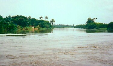 Which African river crosses the equator two times?