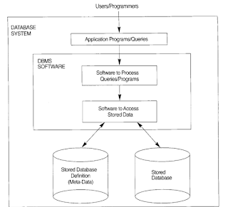 Simplified Database System Organization
