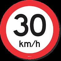 rambu lalu lintas tulisan angka kecepatan