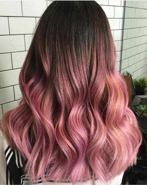 balayage rosado oro