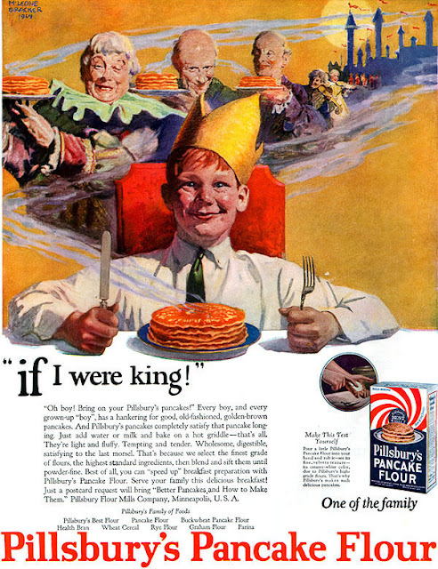 M. Leone Bracker's illustration for Pillsbury's Pancake flour advertisement