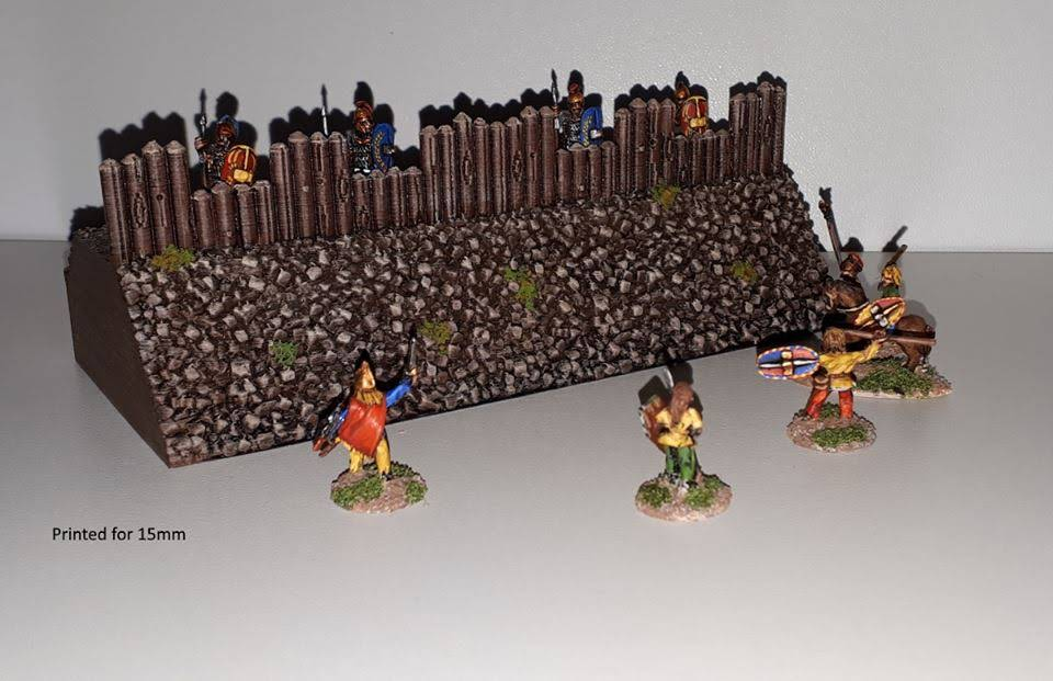 picture relating to Printable Terrain named 10mm Wargaming: 10mm Directly Wall Elements towards Printable