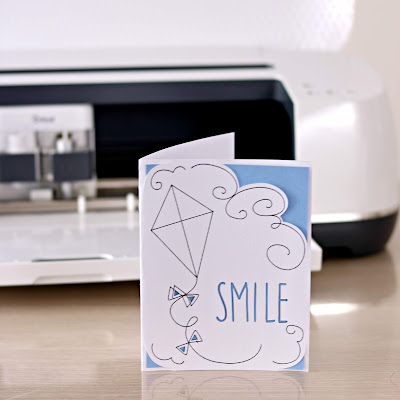 Easy Cricut Maker First Project - Smile Kite Card