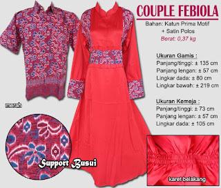Gamis batik couple terbaru murah dan model modern-febiola