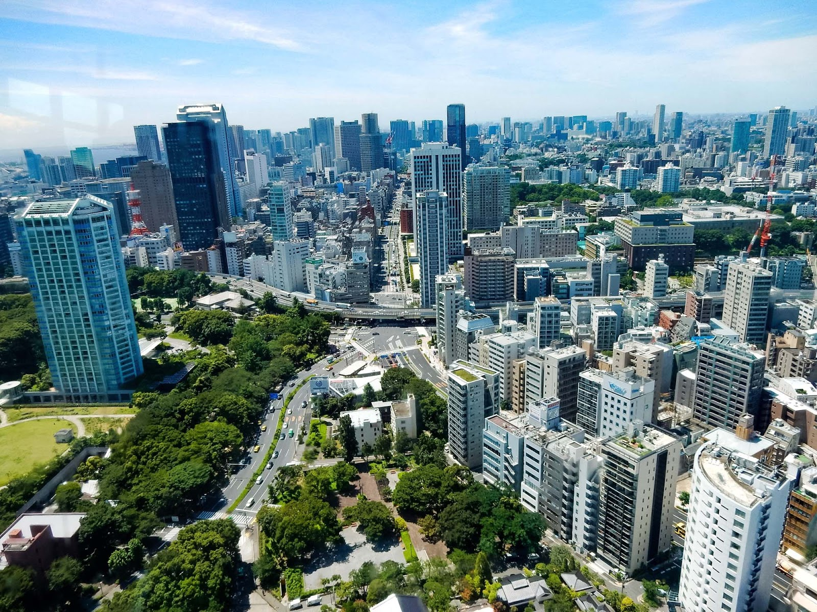 views from the tokyo tower