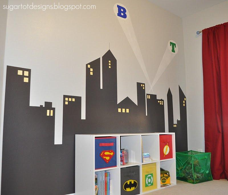 Sugartotdesigns: Boys Superhero Room Reveal