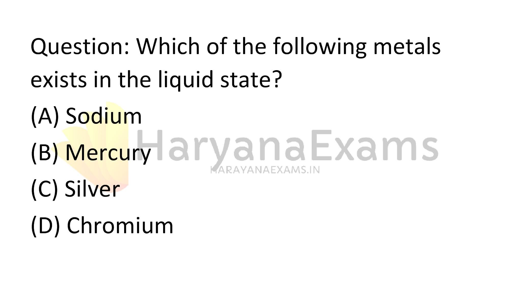 Which of the following metals exists in the liquid state?