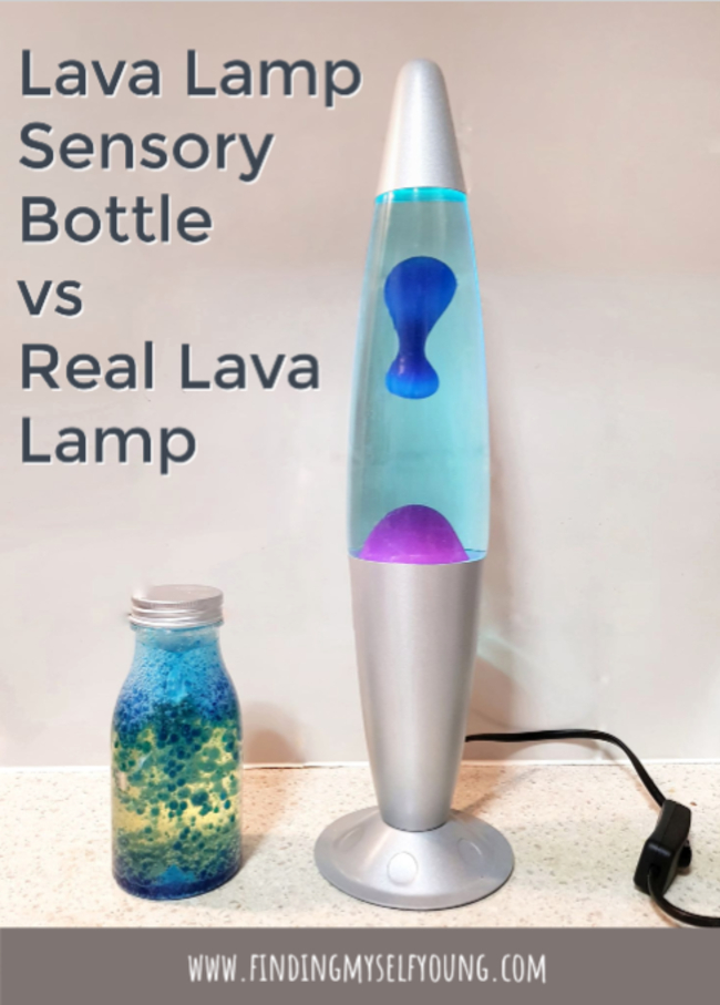 Lava lamp vs lava lamp sensory bottle