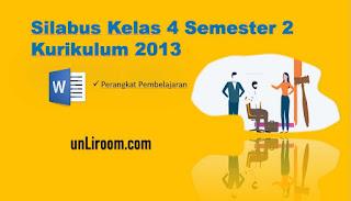 Download Silabus K13 Kelas 4 Semester 2