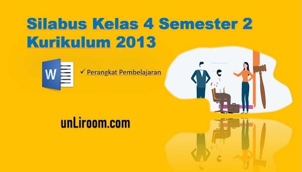 Silabus Kelas 4 Semester 2 Kurikulum 2013 Revisi 2018