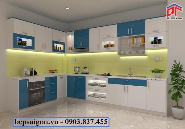 tủ bếp, tủ bếp hiện đại, tủ bếp acrylic