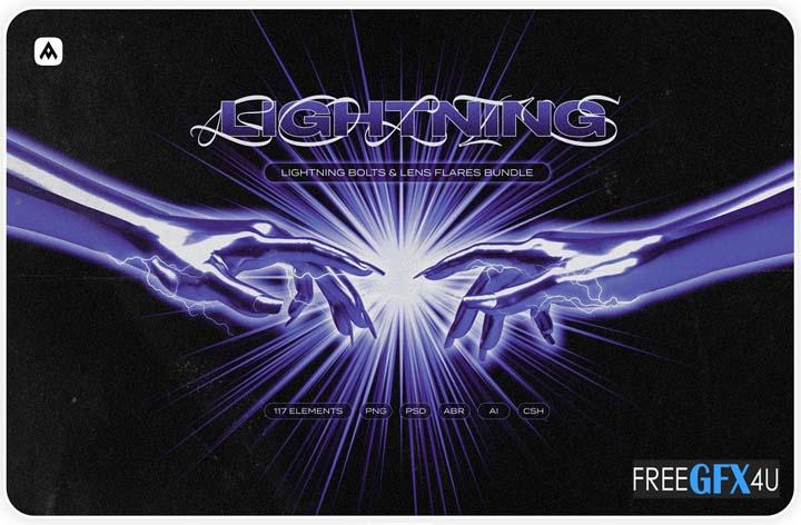Lightning Bolts & Lens Flares bundle