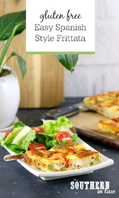 Spanish Style Frittata Recipe with Potato, Capsicum, Feta and Peas