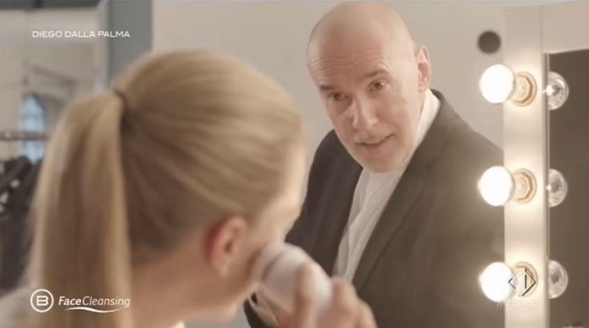 Pubblicita' Bellissima face cleansing per detergere viso con Foto - Testimonial Spot 2016
