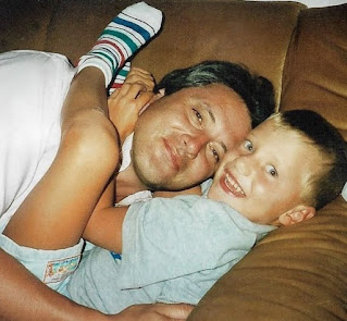 Johannes Bartl's childhood picture with father