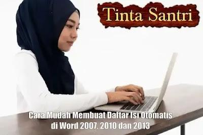 Membuat Daftar Isi Otomatis di Word 2007, 2010 dan 2013