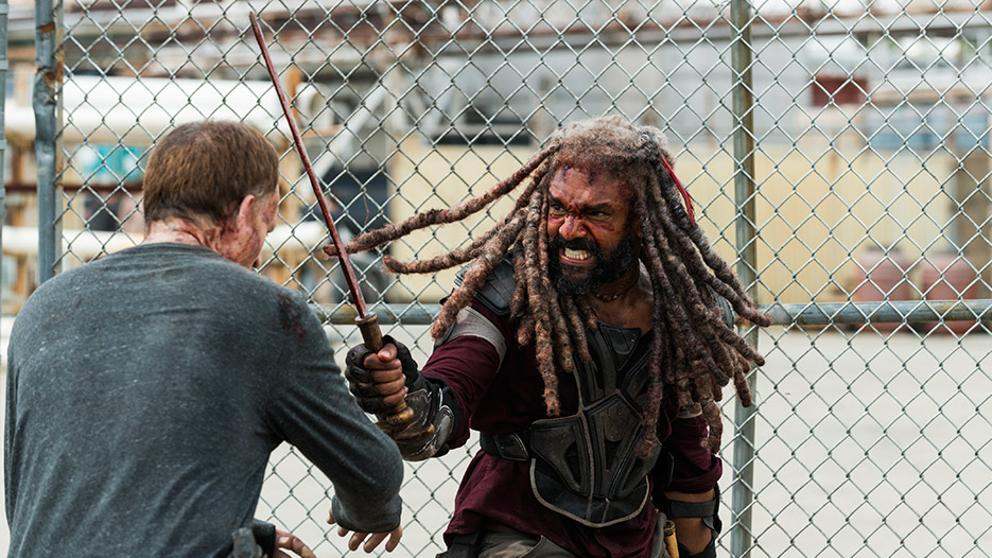 Ezekiel en el episodio 8x04 Some Guy de The Walking Dead