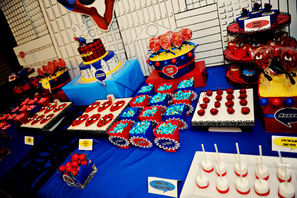 The Party Wall  Spiderman Birthday Party  Part 3  Games and Activities Desserts are great and all  but  after a few awe struck minutes  children  really aren t very interested in looking at pretty labels on a dessert  table