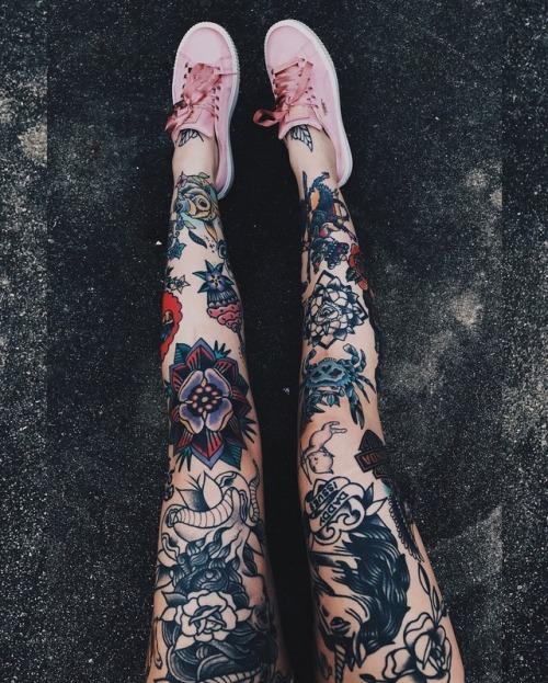 Ink It Up Traditional Tattoos Leg Tattoos