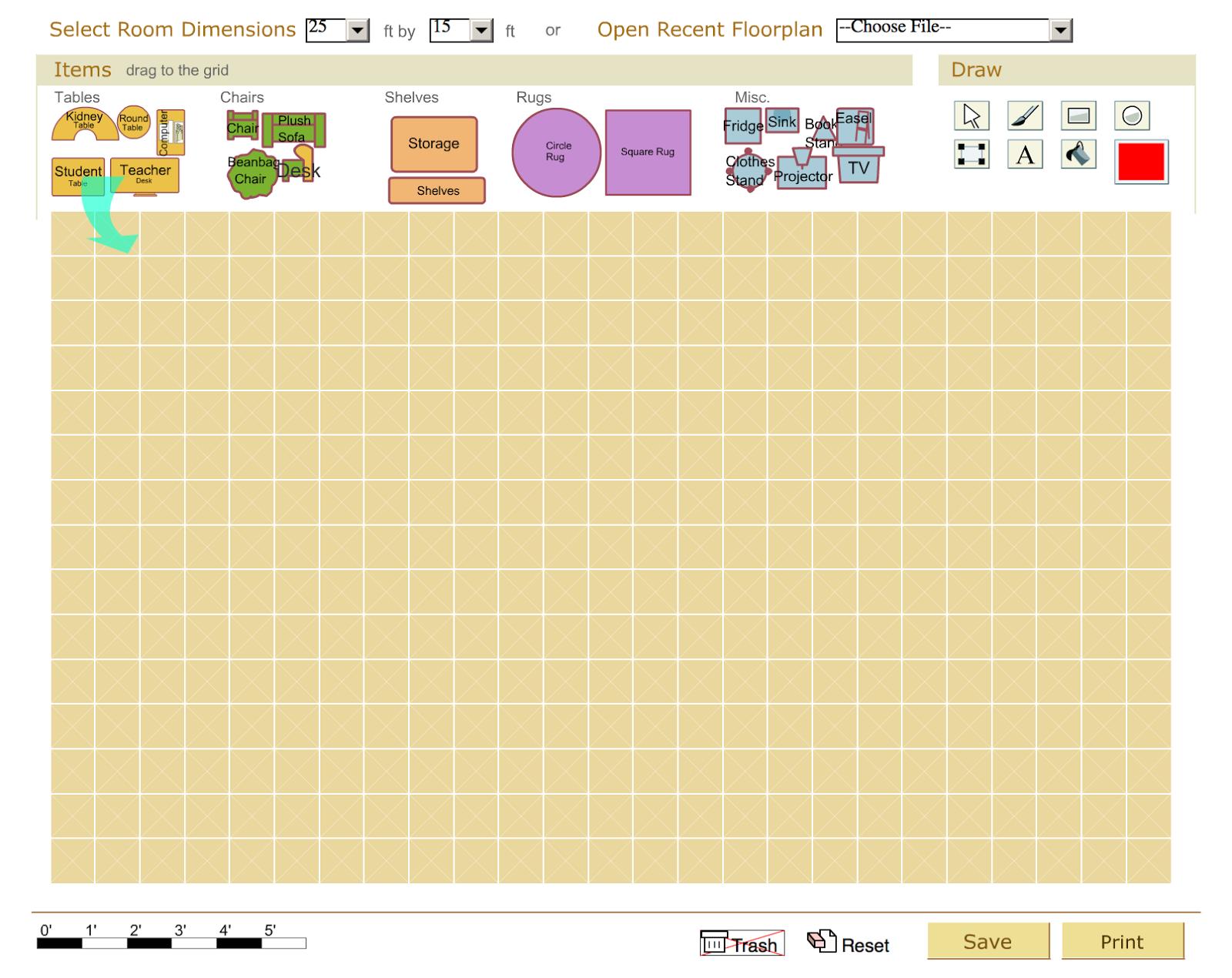 Design Your Classroom Floor Plan