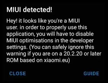 MIUI Detected vanced